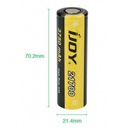 IJOY 21700 High Drain Li-ion Battery 40A 3750mAh 1pce
