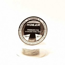 Koiler 26 Gauge 316L Stainless Steel Wire (50 Feet)