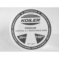 Koiler Premium Kanthal A1 26GA 100ft